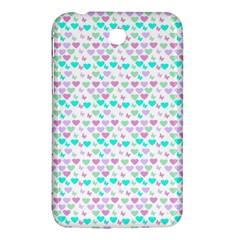 Hearts Butterflies White 1200 Samsung Galaxy Tab 3 (7 ) P3200 Hardshell Case  by snowwhitegirl