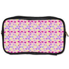 Hearts Butterflies Pink  Toiletries Bags 2 Side by snowwhitegirl
