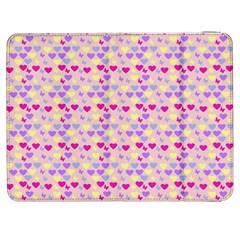Hearts Butterflies Pink  Samsung Galaxy Tab 7  P1000 Flip Case by snowwhitegirl