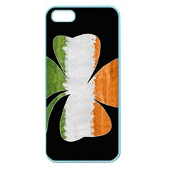 Irish Clover Apple Seamless Iphone 5 Case (color) by Valentinaart