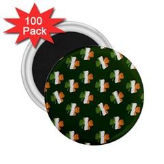 Irish Clover 2 25  Magnets (100 Pack)  by Valentinaart