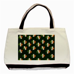 Irish Clover Basic Tote Bag (two Sides) by Valentinaart