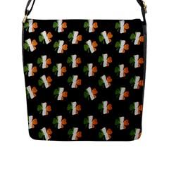 Irish Clover Flap Messenger Bag (l)  by Valentinaart