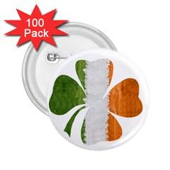 Irish Clover 2 25  Buttons (100 Pack)  by Valentinaart