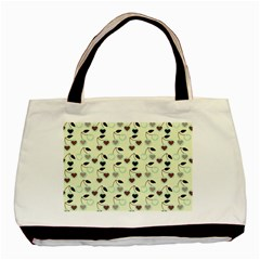 Heart Cherries Mint Basic Tote Bag by snowwhitegirl