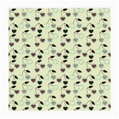 Heart Cherries Mint Medium Glasses Cloth by snowwhitegirl