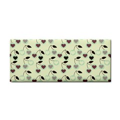Heart Cherries Mint Cosmetic Storage Cases by snowwhitegirl