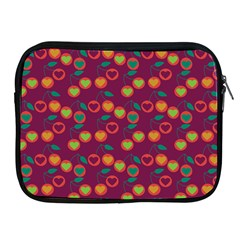 Heart Cherries Magenta Apple Ipad 2/3/4 Zipper Cases by snowwhitegirl
