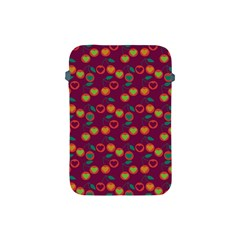 Heart Cherries Magenta Apple Ipad Mini Protective Soft Cases by snowwhitegirl