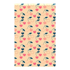 Heart Cherries Cream Shower Curtain 48  X 72  (small)  by snowwhitegirl