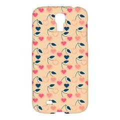 Heart Cherries Cream Samsung Galaxy S4 I9500/i9505 Hardshell Case by snowwhitegirl
