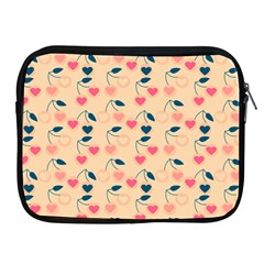 Heart Cherries Cream Apple Ipad 2/3/4 Zipper Cases by snowwhitegirl
