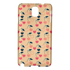 Heart Cherries Cream Samsung Galaxy Note 3 N9005 Hardshell Case by snowwhitegirl