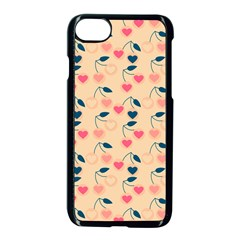 Heart Cherries Cream Apple Iphone 8 Seamless Case (black) by snowwhitegirl