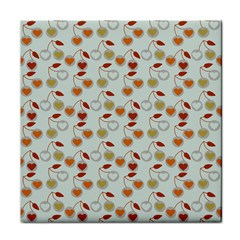 Heart Cherries Grey Face Towel by snowwhitegirl