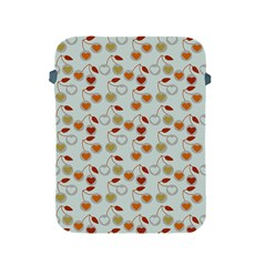 Heart Cherries Grey Apple Ipad 2/3/4 Protective Soft Cases by snowwhitegirl