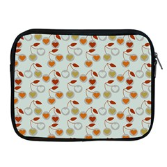 Heart Cherries Grey Apple Ipad 2/3/4 Zipper Cases by snowwhitegirl