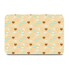 Beige Heart Cherries Plate Mats by snowwhitegirl