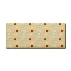 Beige Heart Cherries Cosmetic Storage Cases by snowwhitegirl