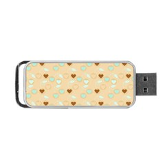 Beige Heart Cherries Portable Usb Flash (two Sides) by snowwhitegirl