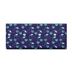Heart Cherries Blue Cosmetic Storage Cases by snowwhitegirl