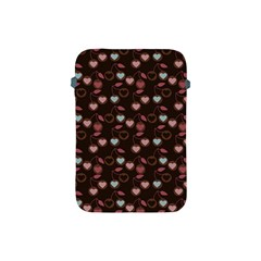 Heart Cherries Brown Apple Ipad Mini Protective Soft Cases by snowwhitegirl