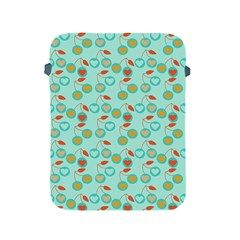 Light Teal Heart Cherries Apple Ipad 2/3/4 Protective Soft Cases by snowwhitegirl