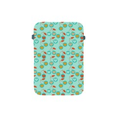 Light Teal Heart Cherries Apple Ipad Mini Protective Soft Cases by snowwhitegirl