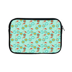 Light Teal Heart Cherries Apple Ipad Mini Zipper Cases by snowwhitegirl
