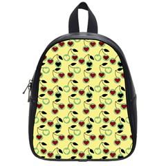 Yellow Heart Cherries School Bag (small) by snowwhitegirl