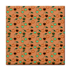 Peach Cherries Face Towel by snowwhitegirl