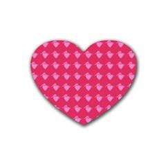 Punk Heart Pink Heart Coaster (4 Pack)  by snowwhitegirl