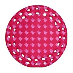Punk Heart Pink Ornament (round Filigree) by snowwhitegirl