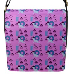 Punk Baby Pink Flap Messenger Bag (s) by snowwhitegirl
