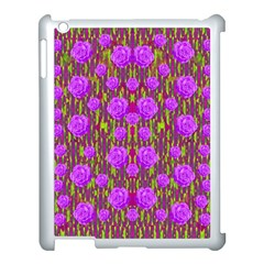Roses Dancing On A Tulip Field Of Festive Colors Apple Ipad 3/4 Case (white) by pepitasart