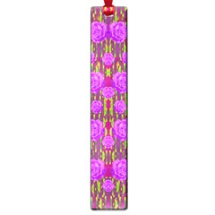 Roses Dancing On A Tulip Field Of Festive Colors Large Book Marks by pepitasart