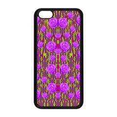 Roses Dancing On A Tulip Field Of Festive Colors Apple Iphone 5c Seamless Case (black) by pepitasart