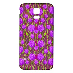 Roses Dancing On A Tulip Field Of Festive Colors Samsung Galaxy S5 Back Case (white) by pepitasart