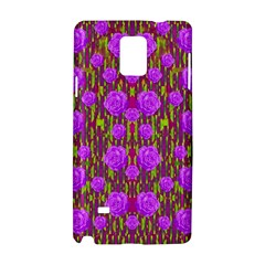 Roses Dancing On A Tulip Field Of Festive Colors Samsung Galaxy Note 4 Hardshell Case by pepitasart