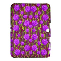 Roses Dancing On A Tulip Field Of Festive Colors Samsung Galaxy Tab 4 (10 1 ) Hardshell Case  by pepitasart