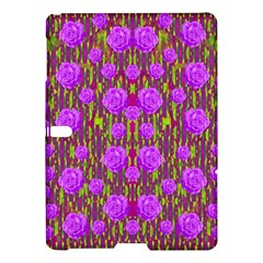 Roses Dancing On A Tulip Field Of Festive Colors Samsung Galaxy Tab S (10 5 ) Hardshell Case  by pepitasart