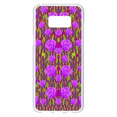 Roses Dancing On A Tulip Field Of Festive Colors Samsung Galaxy S8 Plus White Seamless Case by pepitasart