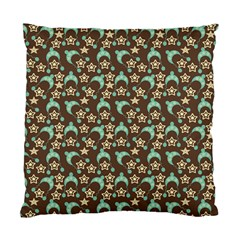 Brown With Blue Hats Standard Cushion Case (two Sides) by snowwhitegirl