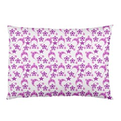 Violet Winter Hats Pillow Case by snowwhitegirl