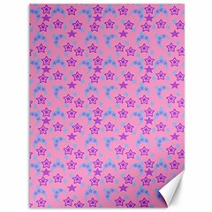 Pink Star Blue Hats Canvas 36  X 48   by snowwhitegirl