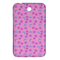 Pink Star Blue Hats Samsung Galaxy Tab 3 (7 ) P3200 Hardshell Case  by snowwhitegirl
