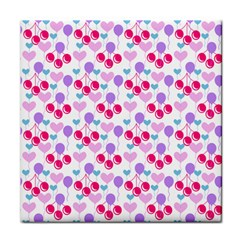 Pastel Cherries Face Towel by snowwhitegirl