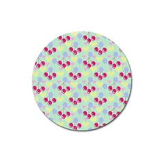 Birthday Cherries Magnet 3  (round) by snowwhitegirl