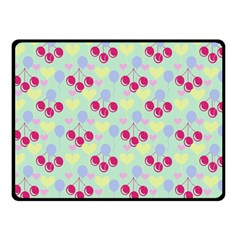 Birthday Cherries Double Sided Fleece Blanket (small)  by snowwhitegirl