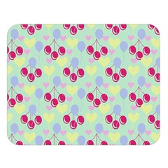 Birthday Cherries Double Sided Flano Blanket (large)  by snowwhitegirl